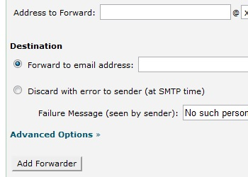 Configure the Forwarder account.